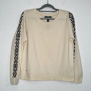 Lauren Active sweatshirt with embroidered sleeves